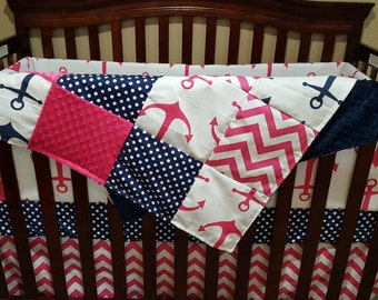 anchor crib bedding | etsy