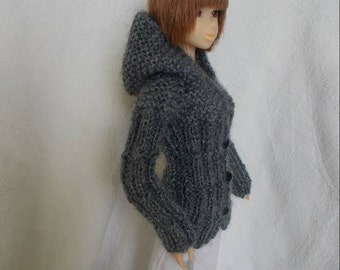 handmade outfit cardigan for momoko,pullip,fashion royalty, barbie, azone...