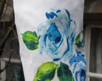Blue Roses Carrier Bag Holder