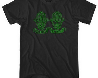 Lotus Hands T-shirt - Men and Unisex - XS S M L XL 2x 3x 4x - Hamsa Hands Tee, India, Yoga, Islam, Peace - 2 Colors