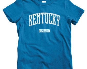 Kids Kentucky Represent T-shirt - Baby, Toddler, and Youth Sizes - Kentucky Tee, Lexington, Louisville, Frankfort - 4 Colors