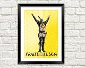 PRAISE THE SUN Print: Dark Souls Solaire z Astory Knight of Sunlight Artwork
