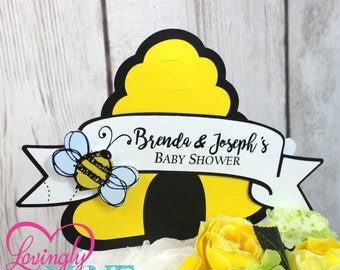 Centerpiece Toppers Bumble Bee Yellow Black White