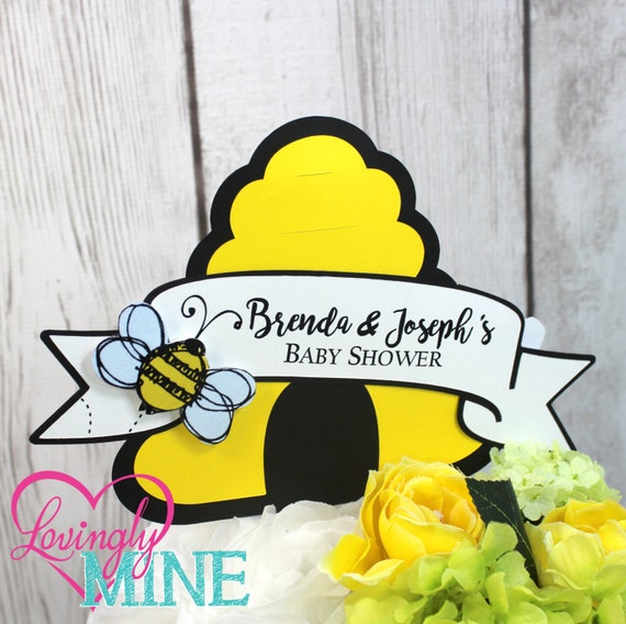 Centerpiece Toppers Bumble Bee Yellow Black White Gender