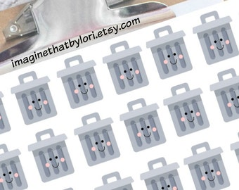 Trash Can Planner Stickers for Erin Condren