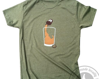 Idaho Local Brew Tee - Mens -BANANA ink