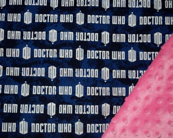 """Doctor Who Baby Security Blanket, 19""""X23"""" Lovey, Baby Boy Baby Girl, Minky, Nerd Baby, Baby Gift, Geek Baby, Baby Shower Gift, Made To Order"""