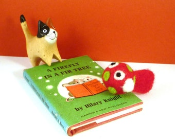 Christmas Fish Catnip Cat Toy - Stocking Stuffer for Cat - Needle Felted Wool