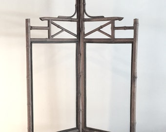 Antique Engliah Bamboo Fireplace Screen