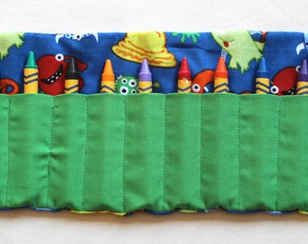 Monster Travel Crayon Roll