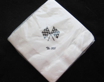 Vintage 50s NOS Indianapolis Indy 500 Race Day Party Paper Napkins