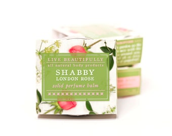 Shabby London Rose Perfume - All Natural - Fragrant Garden Rose and Misty Earth