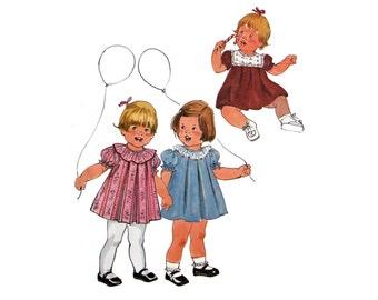 Toddler Dress Pattern,  Pattern, Toddler Size 2, Baby Dress with Yoke, Simplicity 8814, Puff Sleeves, Seventies Pattern, Ruffly Dress