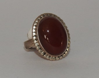 Haven Oval Carnelian Ring Size 7