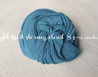 SALE newborn photography prop, teal blue jersey knit wrap, baby stretch wrap, prop layering, photography prop, newborn boy girl photo wrap