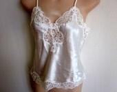 Victoria's Secret camisole cami slip top white lace sexy lingerie S M