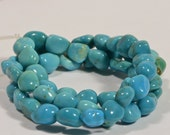 Sleeping Beauty Nuggets Turquoise  Natural Gemstone Beads Jewelry Making Supplies
