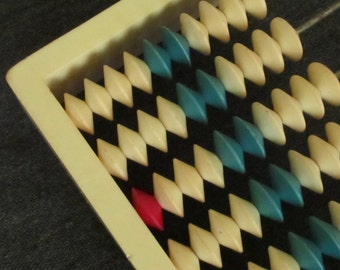 Vintage wooden Abacus, 1960s, school abacus, wood abacus,  Home decor