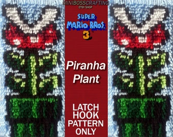 Super Mario: Piranha Plant Pattern - PDF and Image Instructions in 3 sizes