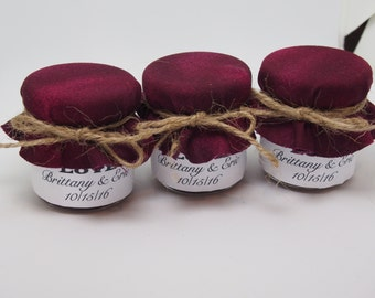 75 Mini Fall Jam Wedding Favor Jars, Small Glass Jam Jars For Fall, Autumn Theme Wedding Jars, Wedding Jam Favors, Jam Jar Favors For Fall