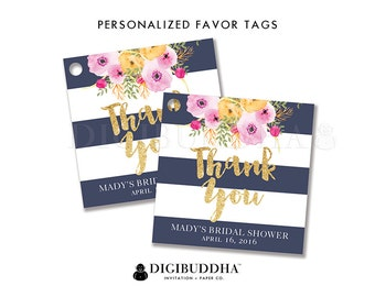 FAVOR TAGS Bridal Shower Favor Tags Thank You Tags Baby Shower Favor Tag Label Tags Gift Tag Party Favor Tag DIY Printable or Printed - Mady