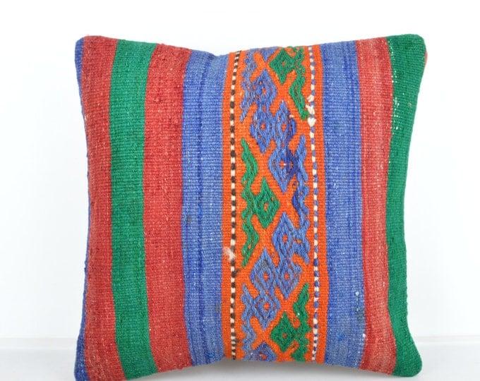 Kilim pillow, Kilim Pillow Cover k500, Turkish Pillow, Kilim Cushions, Bohemian Decor, Moroccan Pillow,  Bohemian Pillow, Turkish Kilim