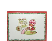 Christmas Card with Strawberry Shortcake & Custard Baking