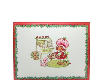 Christmas Card with Strawberry Shortcake & Custard Baking