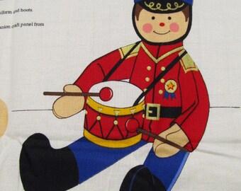 Little Drummer Boy fabric panel by Cranston VIP Fabrics Christmas Destash