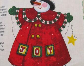 Joyful Snowman Door Panel #1123 fabric panel by Daisy Kingdom Christmas Destash