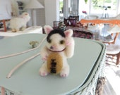 Custom Order Wool Felted Lucky Cat For Jennie