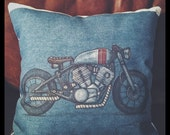 """Cafe Racer Pillow 14 x 14"""" limited edition"""