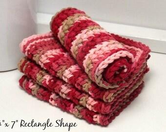 Cotton Dishcloths, Hand Crochet Dishcloth, Eco Friendly Kitchen, Reusable Dishcloths, Bathroom Cloths, Kitchen Cloths, American Grown Cotton