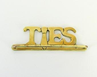 Brass Tie Rack - Vintage 1980s Retro Tie Hanger