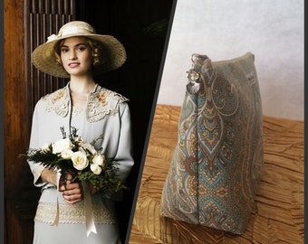 Downton Abbey, Inspired Lady Rose, Cosmetic Bag