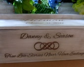 Wine Box, Infinity Knot, Wedding Wine Box, Wine Box Ceremony, Time Capsule, Personalized WInebox, Rustic Wedding Wine box, Love Letter Box