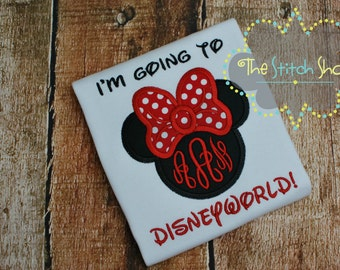 I'm Going to Disneyworld Monogrammed and AppliquedShirt