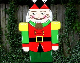 Nutcracker Door Hanger, Christmas Door Hanger