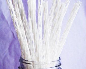 Reusable Straws BPA Free Eco Friendly Striped Wedding White 10 For DIY  Making Your Own  Mason Jar Cup Tumblers,