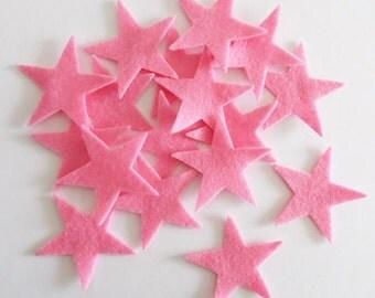 Felt star light pink, 20 pieces, DIY supplies, DIY Wedding, Die Cut Shapes, Applique, Party Supply, Felt supplies