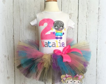 Girls robot birthday outfit - robot themed birthday tutu outfit - 1st birthday robot outfit - robot tutu - custom birthday outfit for girls