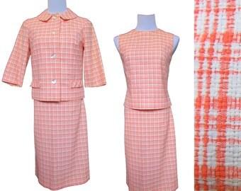 RESERVED Vintage 60s Suit // Vintage Skirt Suit // Three Piece Suit  // Summer Suit  //  XS S