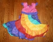 Sorbet Unicorn and Pink Glitter Peppermint Swirl Dress