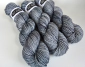 SUPERWASH {dk} | SLATE | ready to ship | hand dyed yarn | merino nylon