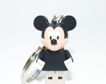 128GB Mickey Mouse USB Flash Drive with Key Chain
