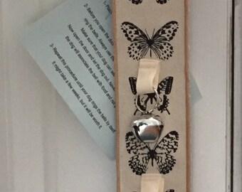 Dog Door Bells Cream with Butterflys No scratch