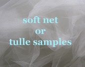 English net, tulle and silk tulle samples - this listing is for one sample