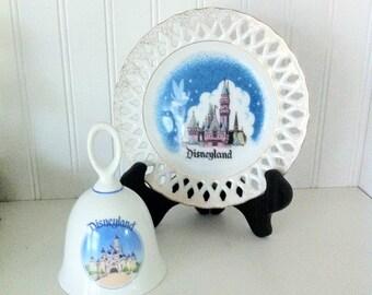 Disneyland -Disney collector- Disney plate- Disney castle- Tinkerbell- Disney souvenir
