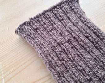 M PICC Line / IV Cover (Armband) allspice, brown, earthy, natural, chocolate,intravenous, chemo, lyme, TPN, hand knit, cotton, elastic, soft