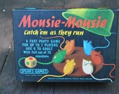 British Childs Game - Mousie Mousie - Spears Games - 60s Game - Vintage Childrens Game - Kids Game - Family Game Night